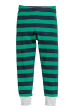 Jersey pyjamas - Green/Striped -  | H&M 2