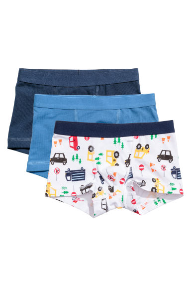 3-pack boxer shorts - White/Cars -  | H&M