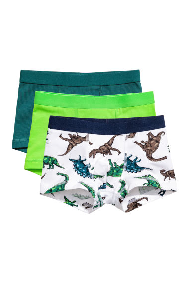 3-pack boxershorts - Grön/Dinosaurier -  | H&M FI