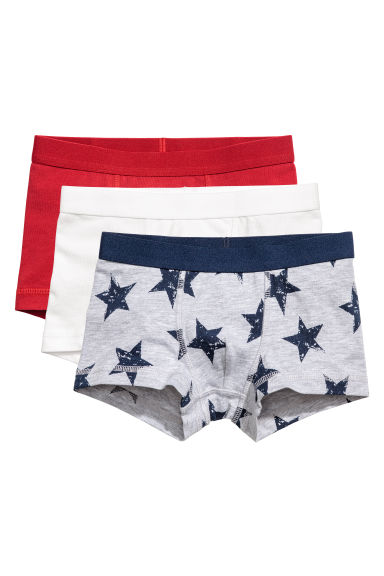 3-pack boxer shorts - Grey/Stars - Kids | H&M 1