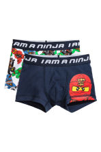 2-pack boxer shorts - Dark blue/Lego - Kids | H&M CN 1
