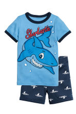 Jersey pyjamas - Blue/Sharks - Kids | H&M CN 1