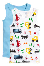 2-pack vest tops - Blue/Cars - Kids | H&M 1