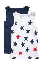 2-pack vest tops - Dark blue/Stars - Kids | H&M CN 1