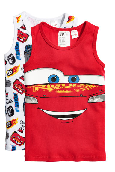 2-pack vest tops - Red/Cars - Kids | H&M 1
