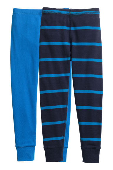 2-pack longjohns - Dark blue/Striped -  | H&M