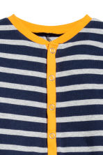 All-in-one pyjamas - Dark blue/Striped -  | H&M 2