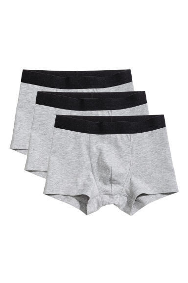 3-pack boxer shorts - Grey marl - Kids | H&M CA