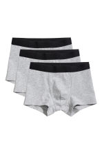 3-pack boxer shorts - Grey marl - Kids | H&M 1