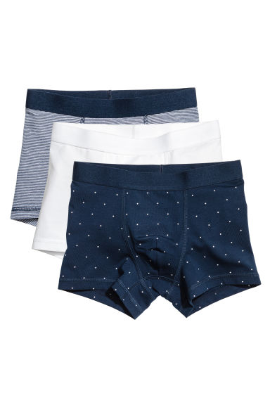 3件入四角褲 - Dark blue/Spotted - Kids | H&M