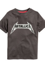 平紋睡衣套裝 - Dark grey/Metallica - Kids | H&M 3