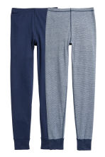 2-pack longjohns - Dark blue/Striped - Kids | H&M CN 1