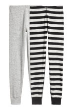 2-pack longjohns - Light grey/Striped - Kids | H&M 1