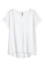 V-neck jersey top - White - Ladies | H&M 2