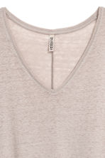 V-neck jersey top - Grey beige - Ladies | H&M 3