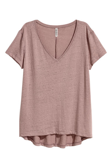 V-neck jersey top - Mole - Ladies | H&M CN