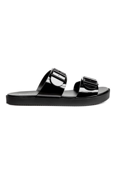 Slip-on sandals - Black - Ladies | H&M CA
