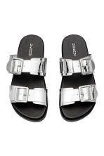 Slip-on sandals - Silver - Ladies | H&M 2