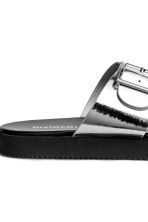 Slip-on sandals - Silver - Ladies | H&M 4