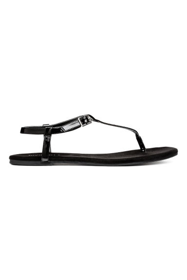 Toe-post sandals - Black - Ladies | H&M 1