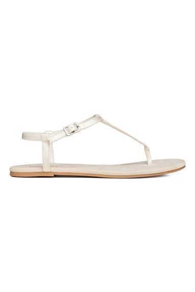 Toe-post sandals - Mother of pearl - Ladies | H&M CN 1