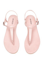 Toe-post sandals - Light pink - Ladies | H&M CN 2