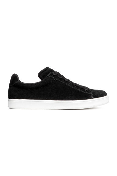 Suede trainers - Black - Ladies | H&M 1