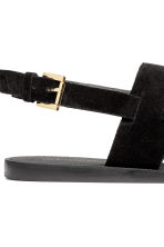 Leather sandals - Black - Ladies | H&M 5