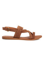 Leather sandals - Camel - Ladies | H&M 1