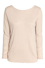Ribbed top - Light beige -  | H&M 2