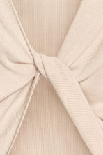 Ribbed top - Light beige -  | H&M 4