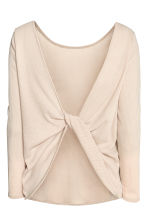 Ribbed top - Light beige -  | H&M 3