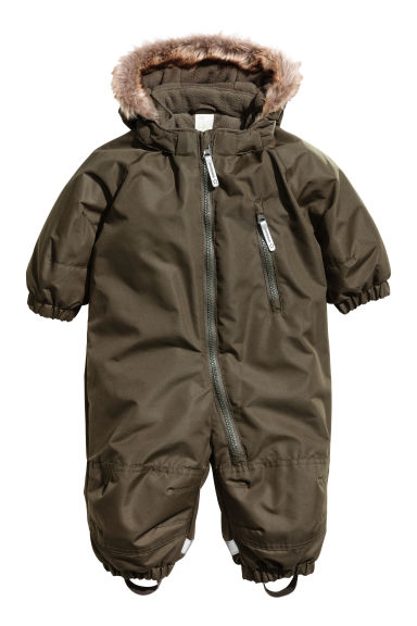 Padded outdoor all-in-one suit - Dark khaki green - Kids | H&M IE