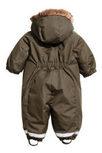 Padded outdoor all-in-one suit - Dark khaki green - Kids | H&M CN 2