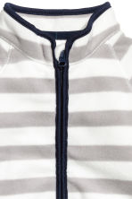Fleece jacket - Grey/White striped -  | H&M 2