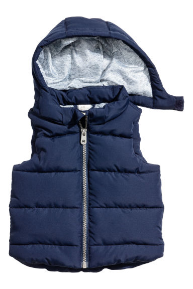 Padded gilet - Dark blue - Kids | H&M CN 1