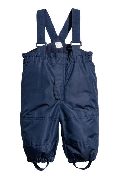 Outdoor Pants with Suspenders - Dark blue - Kids | H&M CA 1