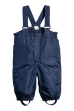 Outdoor trousers with braces - Dark blue - Kids | H&M 1