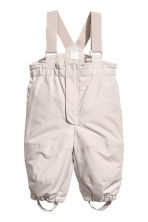 Outdoorbroek met bretellen - Taupe -  | H&M BE 1