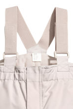 Outdoorbroek met bretellen - Taupe -  | H&M BE 2