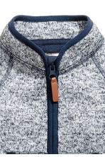 Knitted fleece jacket - Dark blue marl - Kids | H&M 2