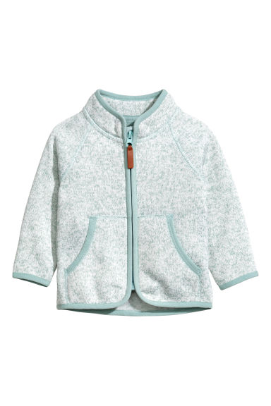 Knitted fleece jacket - Turquoise -  | H&M
