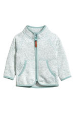 Knitted fleece jacket - Turquoise -  | H&M 1