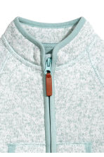 Knitted fleece jacket - Turquoise -  | H&M 2