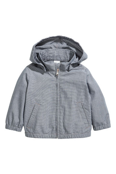 Hooded cotton jacket - Dark blue -  | H&M 1