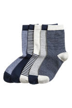 5雙入短襪 - Dark blue/Striped - Kids | H&M 1