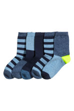 5-pack socks - Blue marl/Striped -  | H&M CN 1