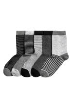 5-pack socks - Black/Grey/Striped -  | H&M 1