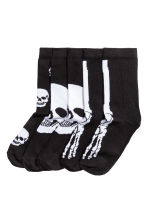 5-pack socks - Black/Skull -  | H&M 1