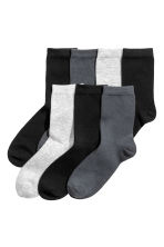 7-pack socks - Dark grey -  | H&M CN 1